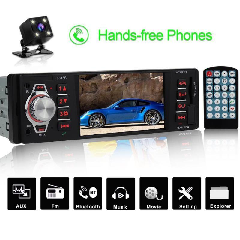 1 Din Car Radio 1din Car Stereo Auto Audio 3.9 Inch Mp5 Player Fm Bluetooth Usb Support Rear View Camera Autoradio Coche 3615B
