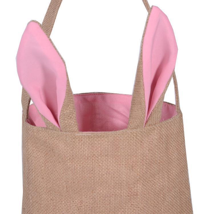 آذان لطيف القطن والكتان عيد الفصح الأرنب سلة حقيبة للحصول على هدايا عيد الفصح عيد الفصح التعبئة اليد للمهرجان الجميلة للأطفال هدية 000
