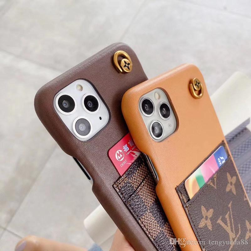 La moda de París muestran una gran caja del teléfono para iphone sostenedor de la cubierta 11 Tarjeta de piel Pro Max Xsmax X XR 7 8 más de calidad superior del teléfono