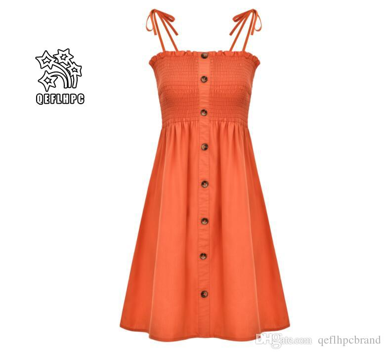 2019 Лето Женская одежда Sexy женщин модные повседневные платья Эластичный пояс средних и долго стиле хлопок материал Fine слинга MP-350
