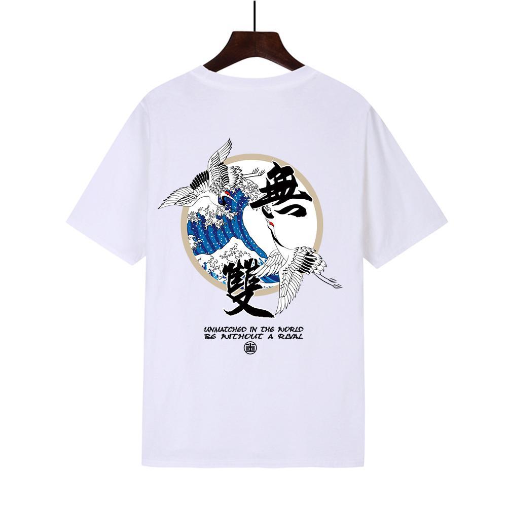 Mondale bedrucktes T-Shirt mit Cross-Border-Guoshi wushuangtan kreative Kurzarm T-Shirt mit europäischen und amerikanischen Stil plus size # 321as