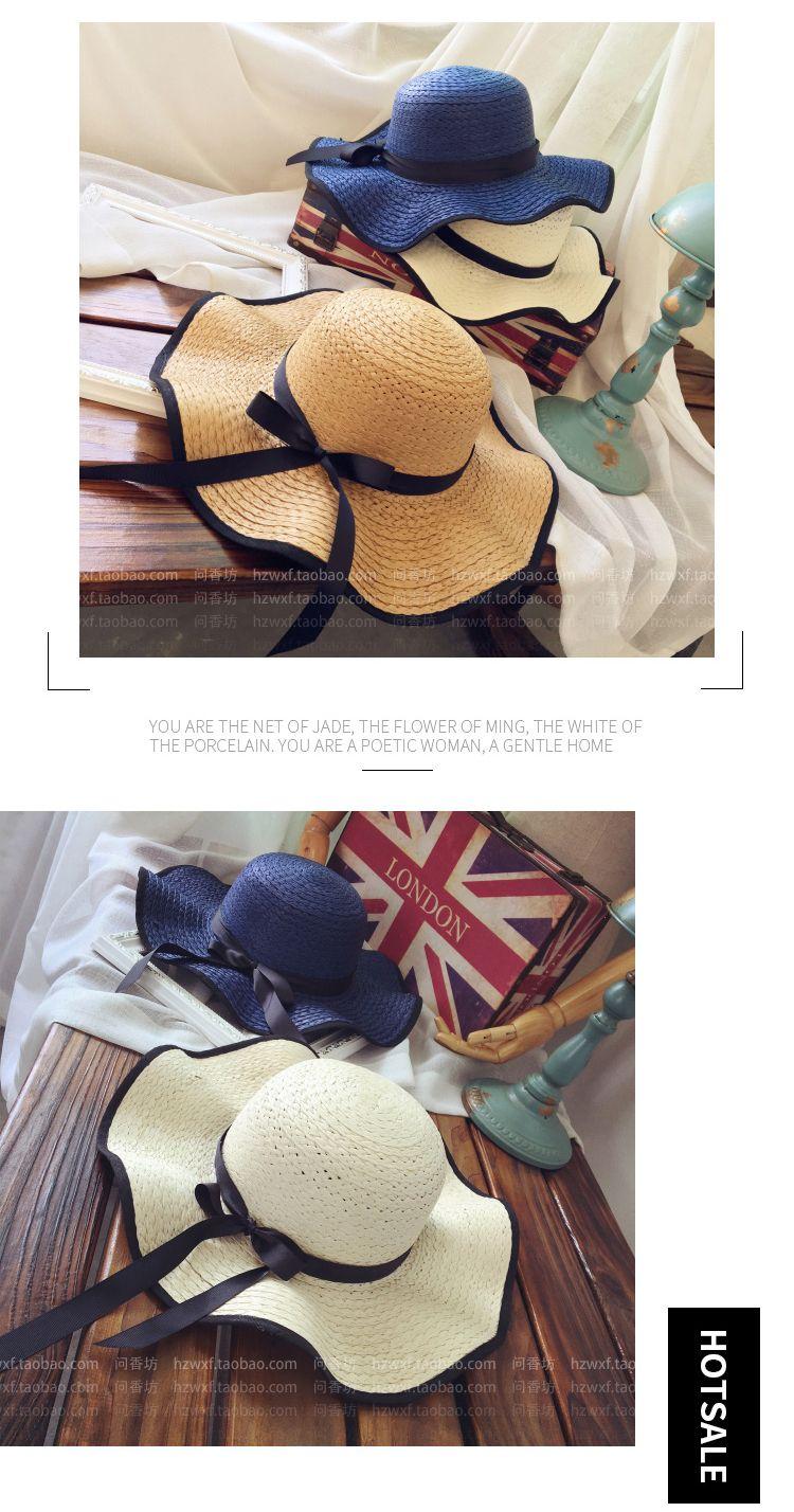 67104f74d Hat Female Seaside Summer Sun Protection Sun Straw Hat Travel Big Beach  Sand Visor Summer Leisure Wild Korean Wave Baby Sun Hat Summer Hats For  Women ...