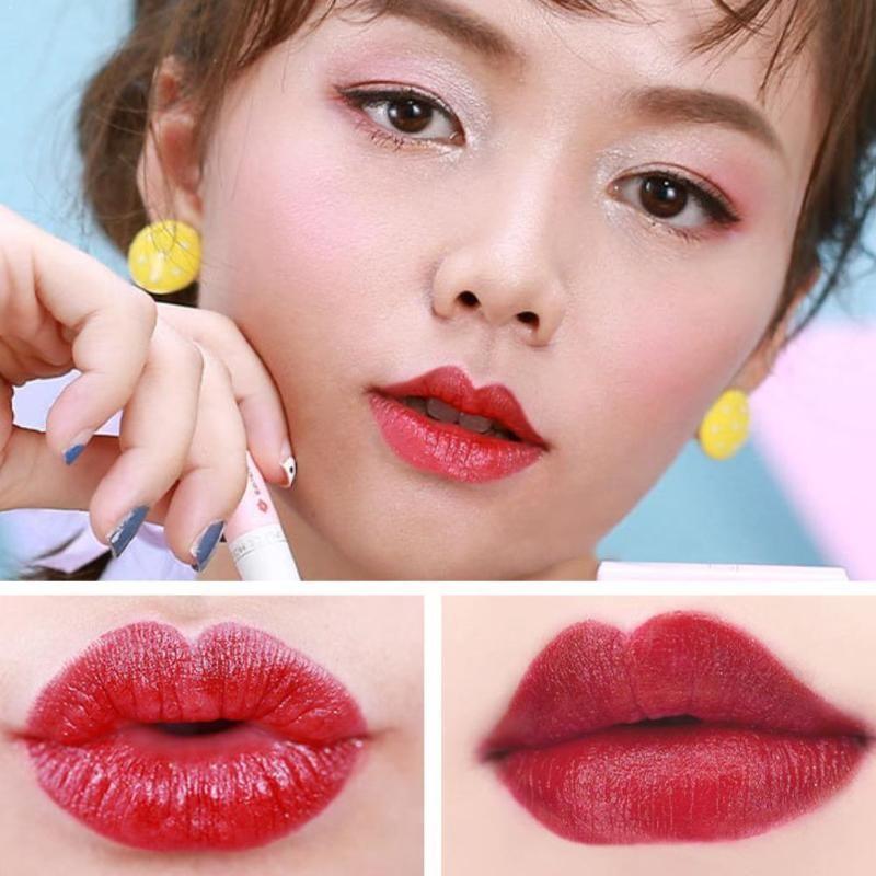 Art und Weise 4 Farben natürlicher wasserdicht Kreative Cigarette Kartoffel Lippenstift Farbe Lippenstift Süßes Set Set Rotten W6H2
