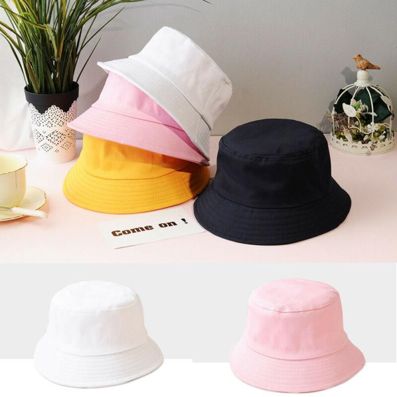 New Cute Adults Women Kids Bucket Hat Mommy and me Family Look Girls Summer Fishing Fisher Beach Sun Caps Baby Hat 2020 Fashion