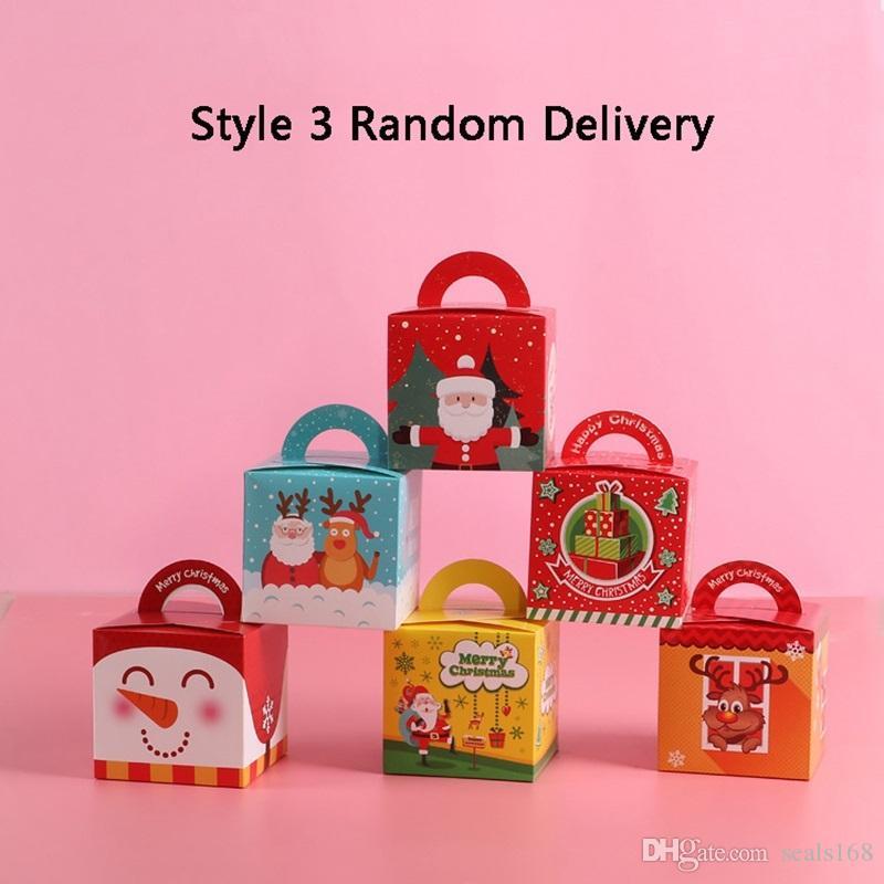 Weihnachten Cartoon Party Supplies-Süßigkeit-Kasten-Babyparty-Kindergeburtstags-Party-Bevorzugungen Geschenk-Kasten Weihnachtszuckerschachteln Apple-Boxen HH9-A2560