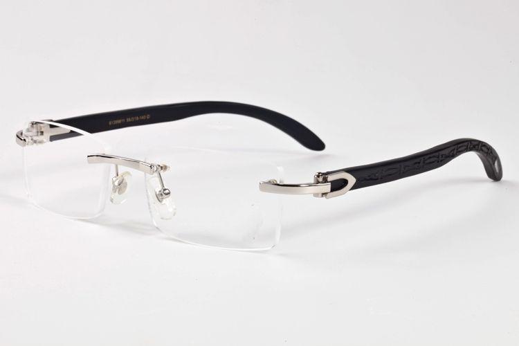 2020 corne de buffle d'oeil de chat lunettes de soleil mode montures de lunettes d'argent d'or lunettes lentilles claires lunettes de sport mens vintage avec cas