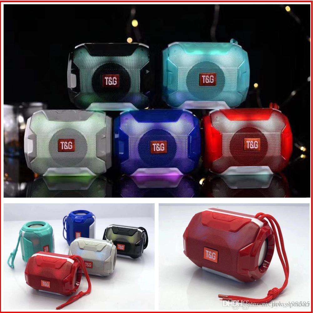 Mini Protable Speaker TG162 Wireless Bluetooth Speaker With LED Light Flash Lamp Speaker 5W Horn Stereo Subwoofer USB Mp3 Music Player