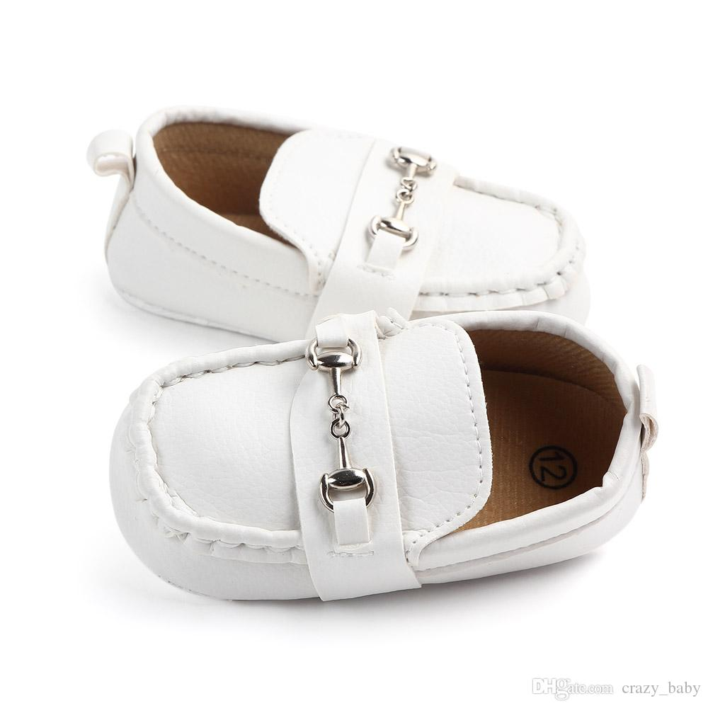 Babyschuhe Leder Mokassin Infant Footwears Schwarze Schuhe für Neugeborene Leder Babyschuhe für 0 -1 Jahre