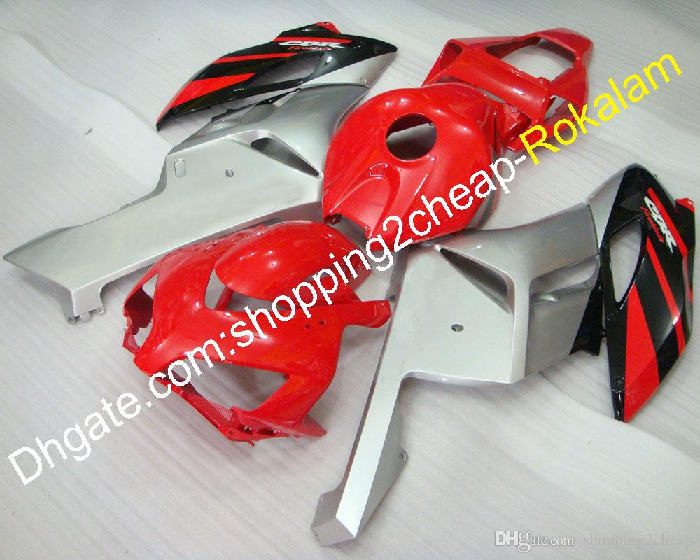 For Honda Bodywork Part CBR1000RR Fireblade Fairings 2004 2005 CBR 1000RR 04 05 Red Black Silver Aftermarket Fairing Kit (Injection molding)