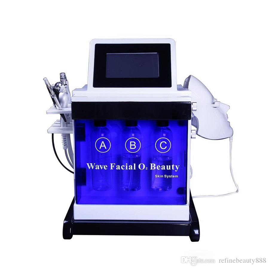 2020 الجديد 5 في 1 الوجه تنظيف الأكسجين H2O2 PDT قناع تحسين حب الشباب زيادة المرونة المحمولة صالون آلة تبييض