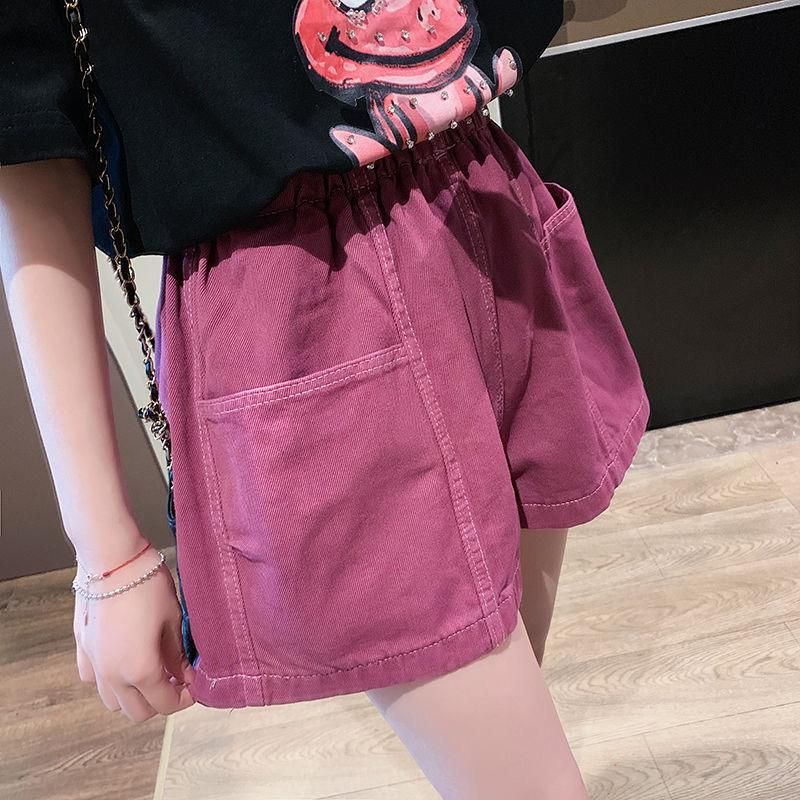 2020 new loose high waist denim shorts summer thin section was thin student shorts women's casual girls jeans