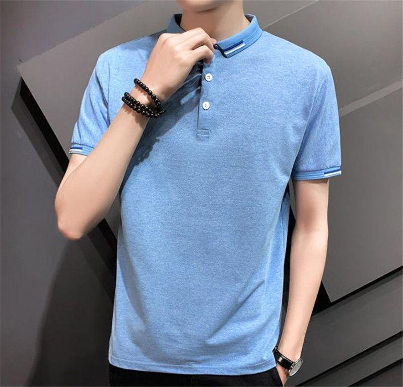 Luxus-Mens Designer Modisch Polo Polo Kurzer Festkörper-Komfortables Casual Sleeve Farbe Hemd T-shirt Herren Kleidung FGNVJ
