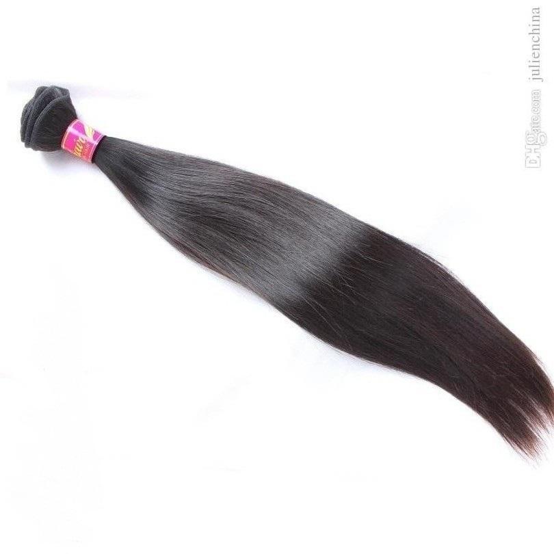 Bella Hair Double Weft Malaysische Erweiterung 4 Bündel Unverarbeitete natürliche Farbe seidig gerade
