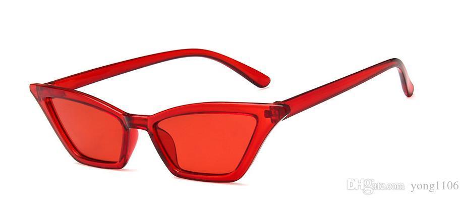 Nuevas gafas de sol de moda de Europa y América, gafas de sol retro con montura pequeña estilo boutique para mujeres, gafas de sol transparentes y deslumbrantes