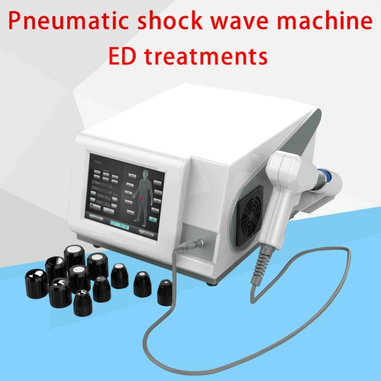 Neueste Low Intensity Shock Wave-Maschine für ED erektile Dysfunktion Therapie pneumatischen Stoßwelle max 21Hz Mann Verwendung Stosswellen
