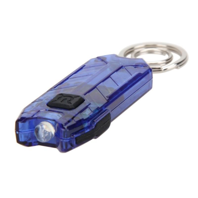 Bicycle Lights Practical Mini USB LED Keychain Flashlight Rechargeable Key Chain Keyring Light Lamp Torch 5 Colors T191116
