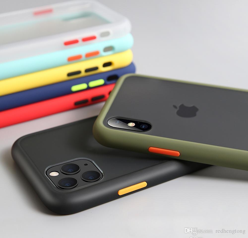 Stoßfest Telefon-Kasten für iPhone 12 XR XS Max Silikon-Matttelefonabdeckung für iPhone 11 pro max 7 8 Plus Fall