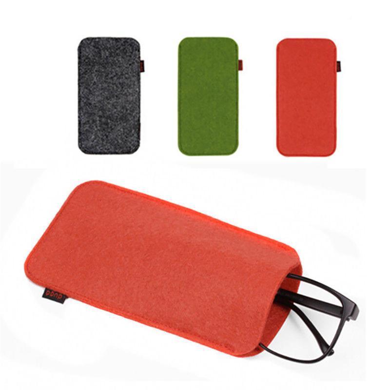 Vente chaude de haute qualité de lunettes Pouch Lunettes Sleeve Case Sac à cosmétiques doux sac de crayon Case Gardez yyour Lunettes Protected