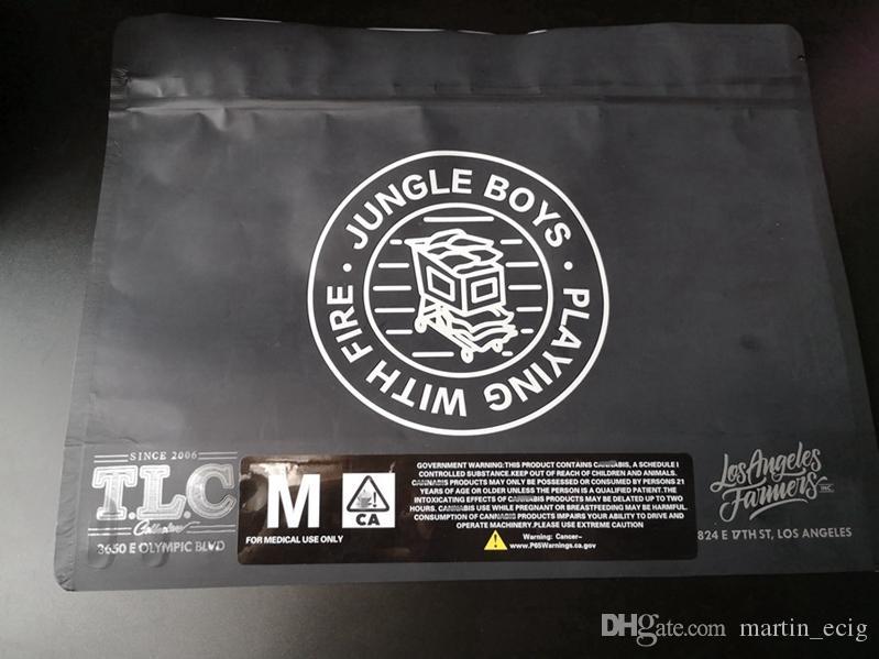 Büyük Orman Boys Dayanıklı Çanta Yukarı Kılıfı Yarım A Pound Paketi Sadece Kuru Ot Flowers Mylar Fermuar Paketi Packaging Standı Koku
