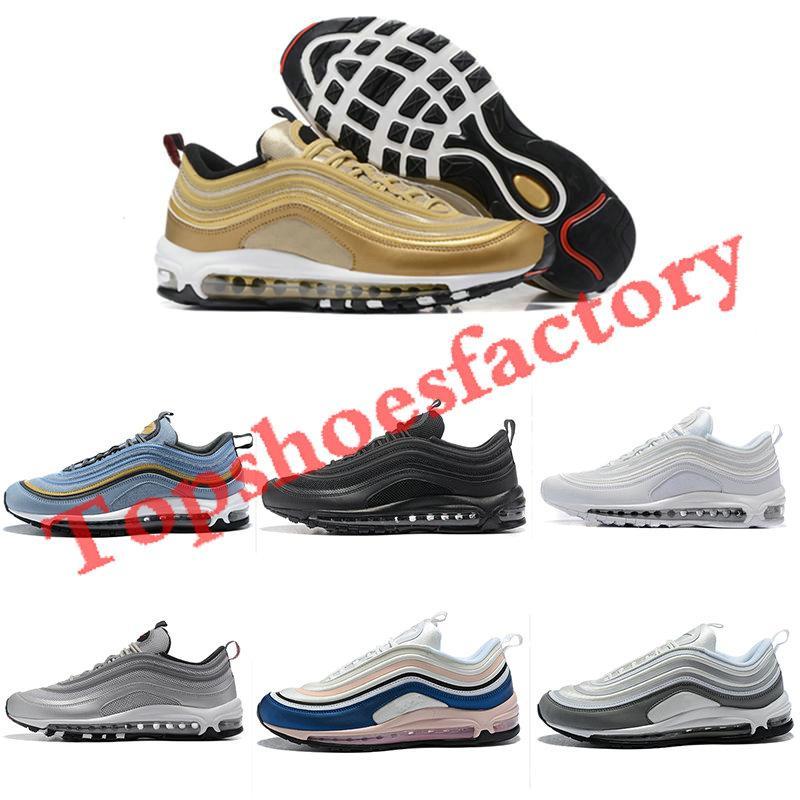 Nike air max 97 airmax 97 أحمر أبيض ليوبارد الأصفر ستيلرز مهزوم OG UNDFTD الاحذية 2019 ثلاثية بيضاء 97S السود في جنوب شاطئ الرجال حذاء رياضة المرأة