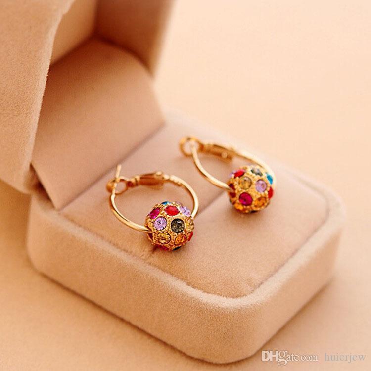 Earrings for Women Fashion 1pair Women Rhinestone Ear Stud Earrings