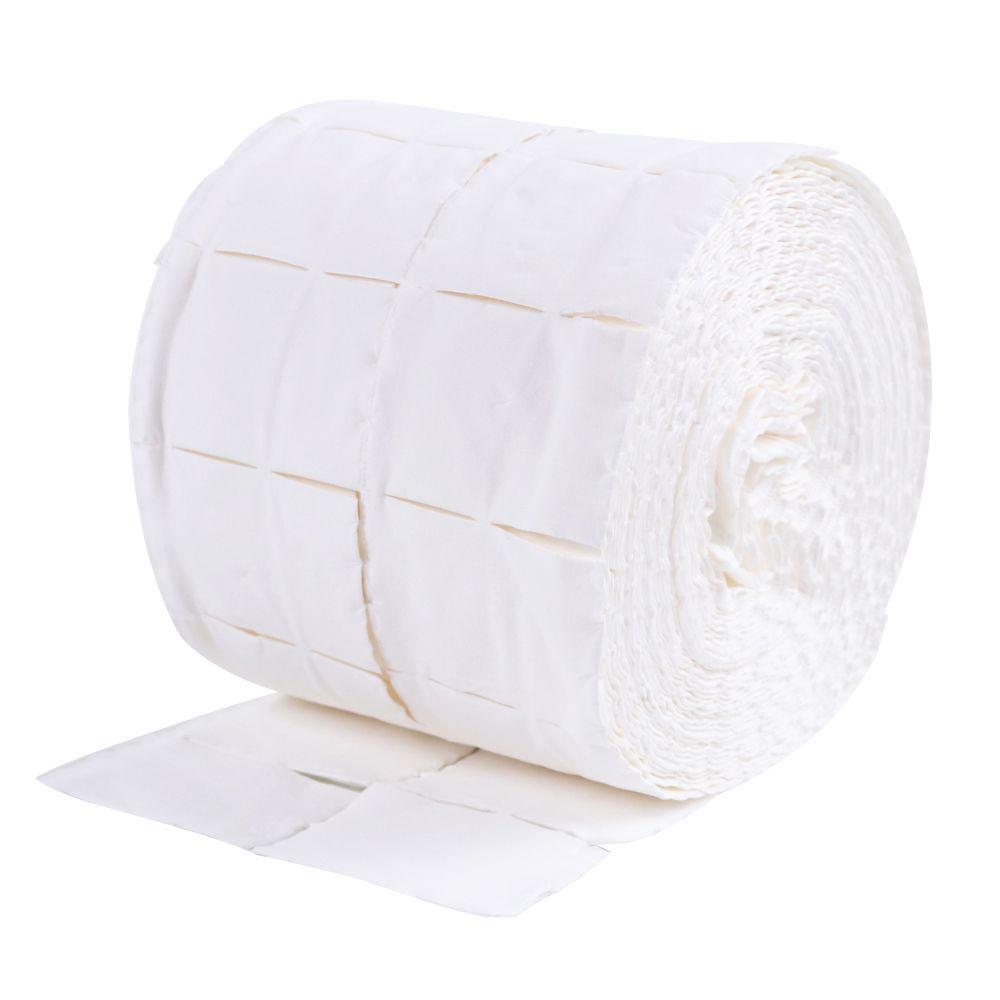 500pcs / rollo de algodón de uñas Toallitas UV Gel del clavo polaco del limpiador del removedor de pelusa de papel del cojín empapa el clavo Arte de limpieza herramienta de la manicura RRA2851