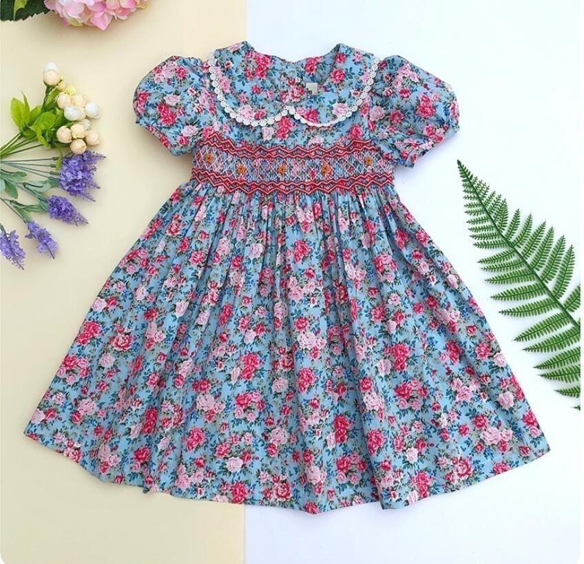 6226962164164 2019 Summer Girl Smocked Dress Cotton Frock Baby Clothes Embroidery Flower  Party Kids Dresses For Girl'S Clothing Princess From Ys_shop, &Price; | ...