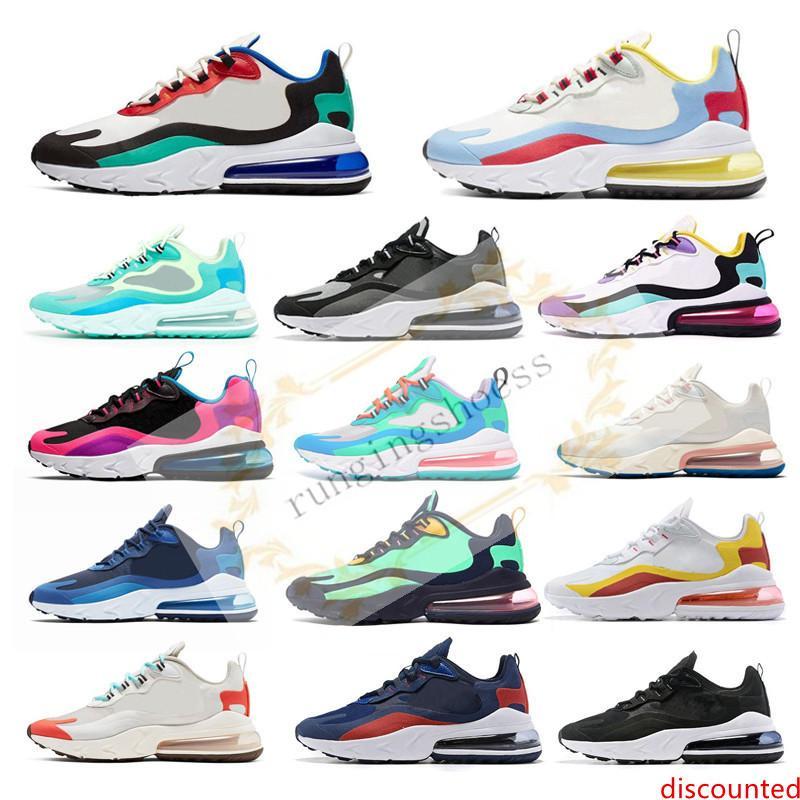 New Reagir Homens Running Shoes Top Quality BAUHAUS OPTICAL Triplo Preto a forma das mulheres dos homens instrutor respirável Sports Sneakers Tamanho 36-45