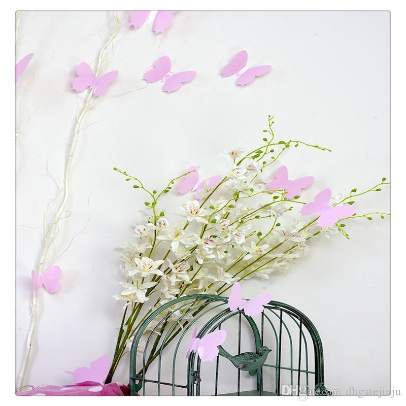 Ainest 3D DIY Wand-Aufkleber-Aufkleber Schmetterlings-Hauptdekor-Raum-Dekorationen Mint Grün Schwarz, Weiß, Gelb Heißer Verkauf