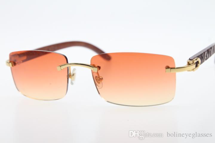 Wholesale Gold Unisex 3524012 RIMLEL Дизайнер Деревянный стиль моды 2020 дизайнер Высококачественные солнцезащитные очки Солнцезащитные очки резные коричневые новые новые CLA GXAC