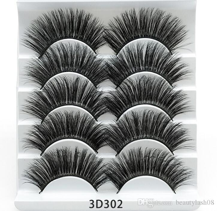 Best eyelashes 5 pairs 3d lashes mink eyelash handmade false eyelashes soft fluffy natural eyelashes 3d eyelash extension