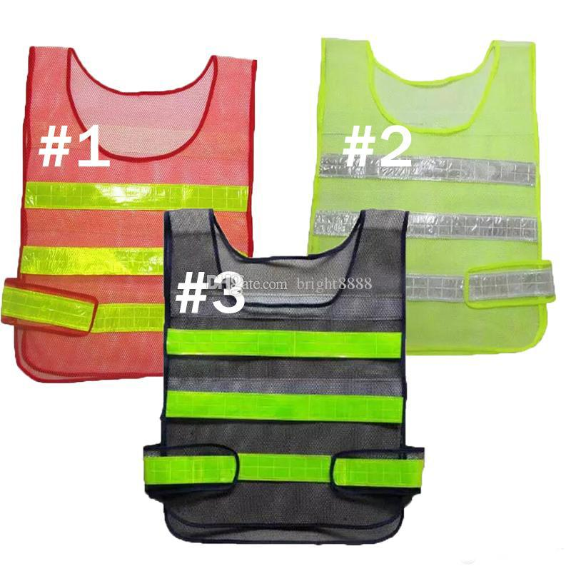 2017 Safety Clothing Reflective Vest Hollow grid vest high visibility Warning safety working Construction Traffic vest
