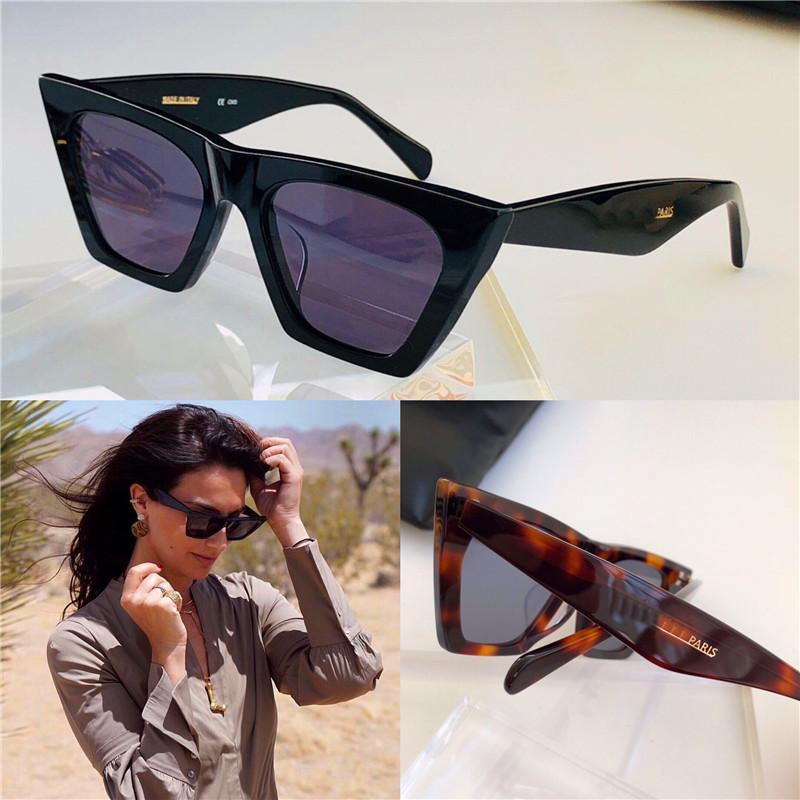 새로운 패션 도매 디자인 케이스 41,468 작은 고양이 눈 프레임 간단한 관대 한 스타일 UV400 보호 안경 최고 품질 선글라스