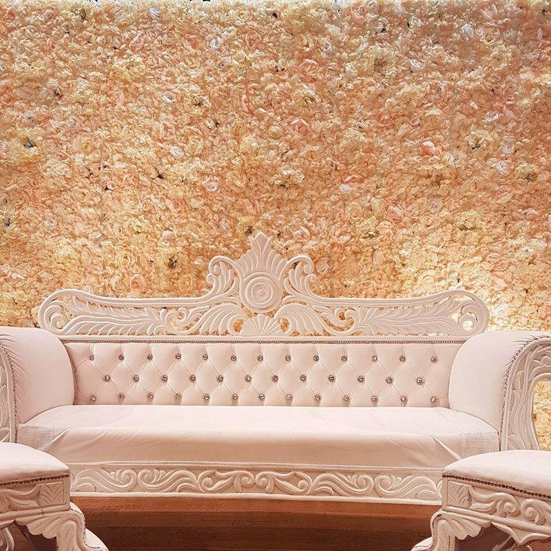 40x60cm Искусственный шелк цветок Стеновые панели белые цветы Гортензия Свадебные украшения Свадьба Backdrop Декор