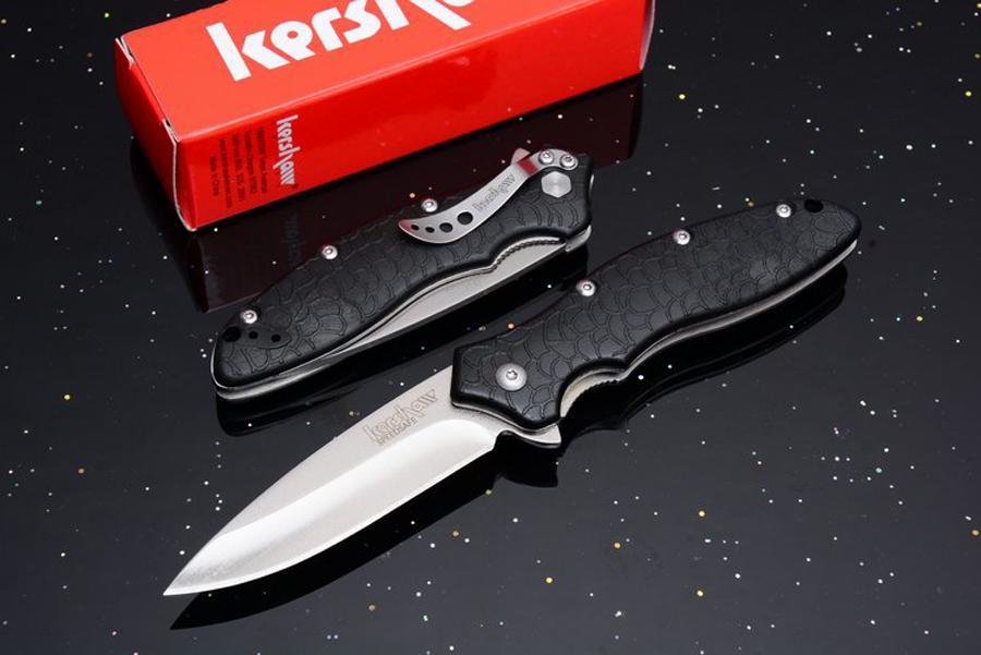 Paslanmaz çelik Blade Naylon Kol Taktik Katlama bıçak kamp Açık Survival ile Kershaw 1830 OSO Tatlı Bıçak Bırak nakliye Bıçaklar