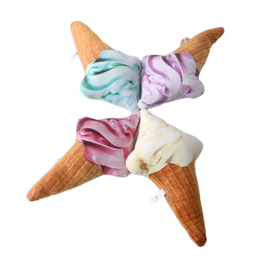 1pc sveglio di simulazione di Ice Cream Cone peluche cuscino peluche suono di compleanno dei bambini Brinquedos regalo Ornamenti Giocattoli di peluche
