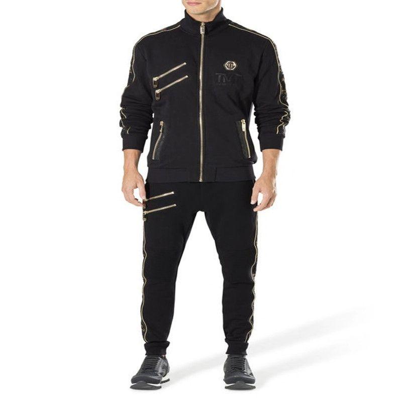 Erkek Spor Mont Lüks Tothe Suç Ekipmanları Adam Şapka Ceket, Erkekler ve Kadınlar için Yüksek Kaliteli Fermuar Eğlence Erkek Kafatası Hip-Hop Spor Mont
