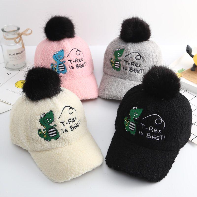 2021 Kids Winter Hats Boys Girls Cashmere Cartoon Dinosaur Baseball Caps  Baby Designer Luxury Bucket Hats Girls Children Cap Hat From  Love_fashionshop, $2.39 | DHgate.Com