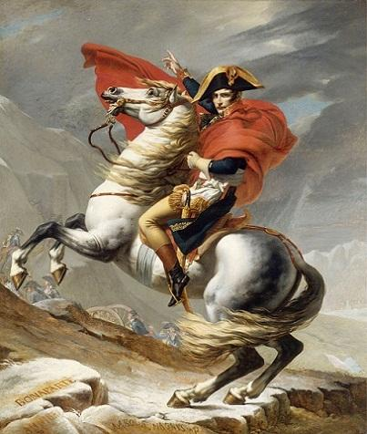 Napoleon Crossing the Alps on Gray Horse Hand-painted &HD Print Portrait Art oil painting On canvas For Wall decor Multi sizes p175!