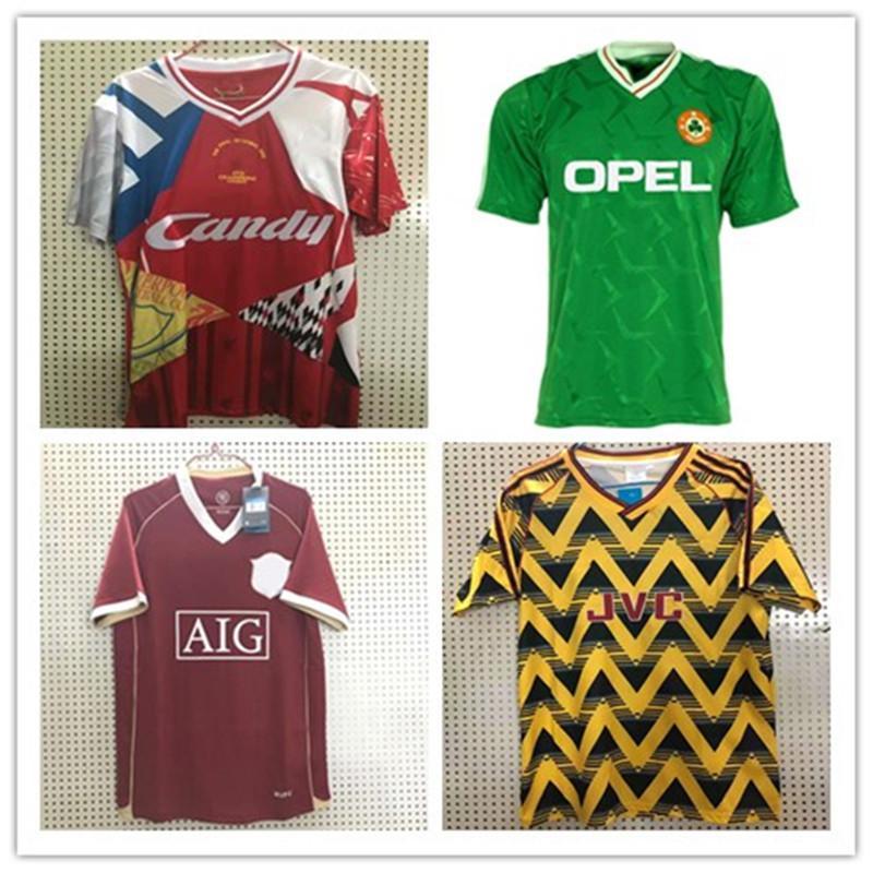 Irland RETRO Fußball Jerseys Thailand 1990 1992 1994 94 Vintage-Fußballhemd Nordirland Nationalmannschaft 90 93 World cup grün weiß