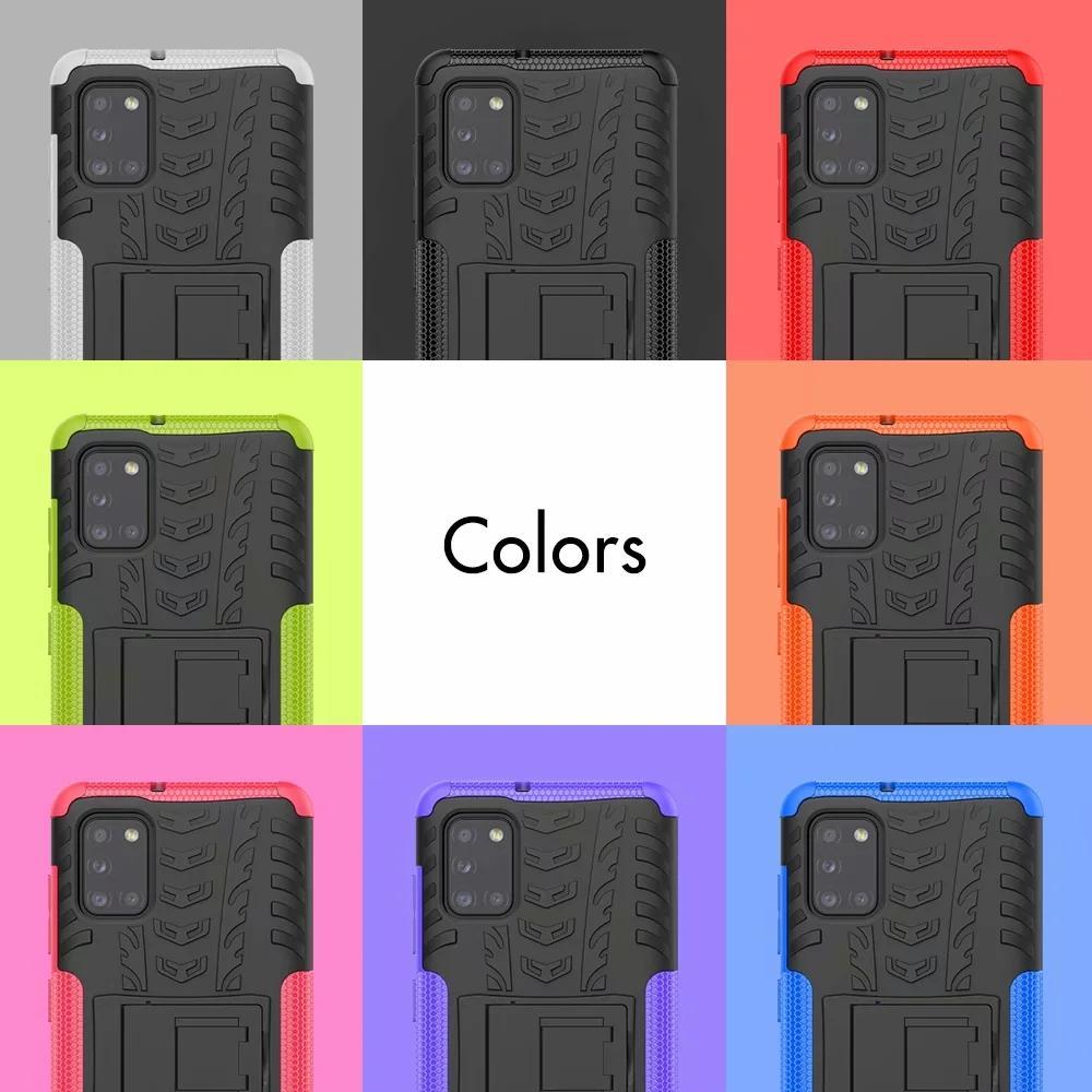 Dazzle Hybrid Case For Samsung Galaxy A70E M31 A41 A11 A51 5G A71 5G A31 Rugged Shockproof Armor Hard PC+TPU Anti-Skid Defender Tire Cover