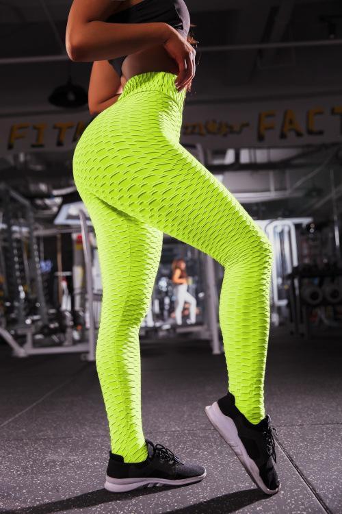 LeggiHot-vente respirant hanche-sport absorbant la sueur pantalons de musculation jacquard serré pantalon de yoga vêtements pour femmes