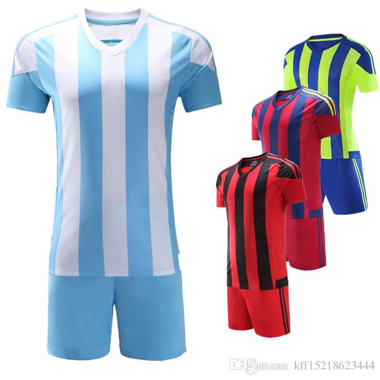Football Suit Men's Summer Student Short Sleeve Long Sleeve Competition Full-body Customized Jersey Print Number Training Team uniform