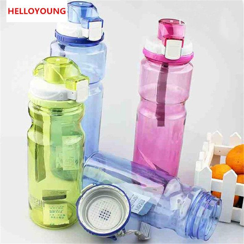 Moda kapaklı uzay şişe su şişesi büyük kapasiteli spor 800 ml taşınabilir Içme Drinkware kolayca şişe tercih