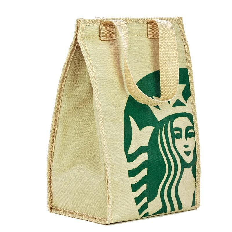 Pacchetto di sacchetti per isolamento termico Starbucks Cooler Pranzo al sacco portatile Picnic Ispessimento Sacchetti termici per il seno termico Borsa per la spesa