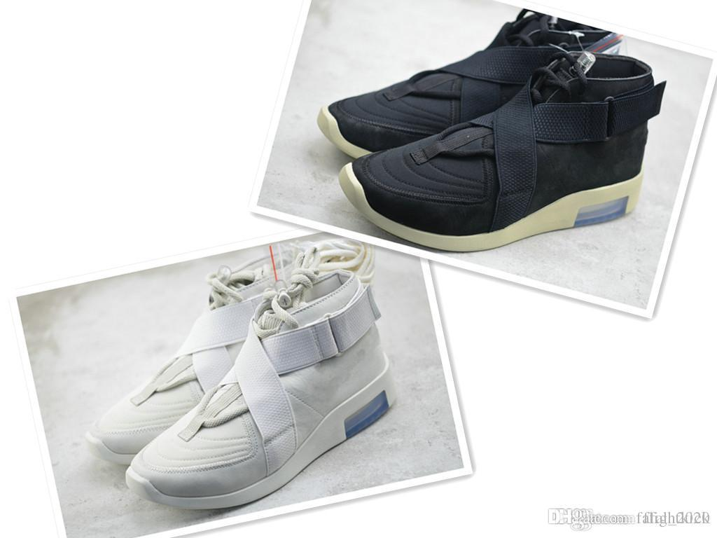 La mejor calidad Fear Of God 180 zapatilla de deporte para los hombres de las mujeres de los zapatos ocasionales Luz Negro Bone botas de zapatos de diseño Niebla Bota Hombre zapatillas de deporte de los hombres de