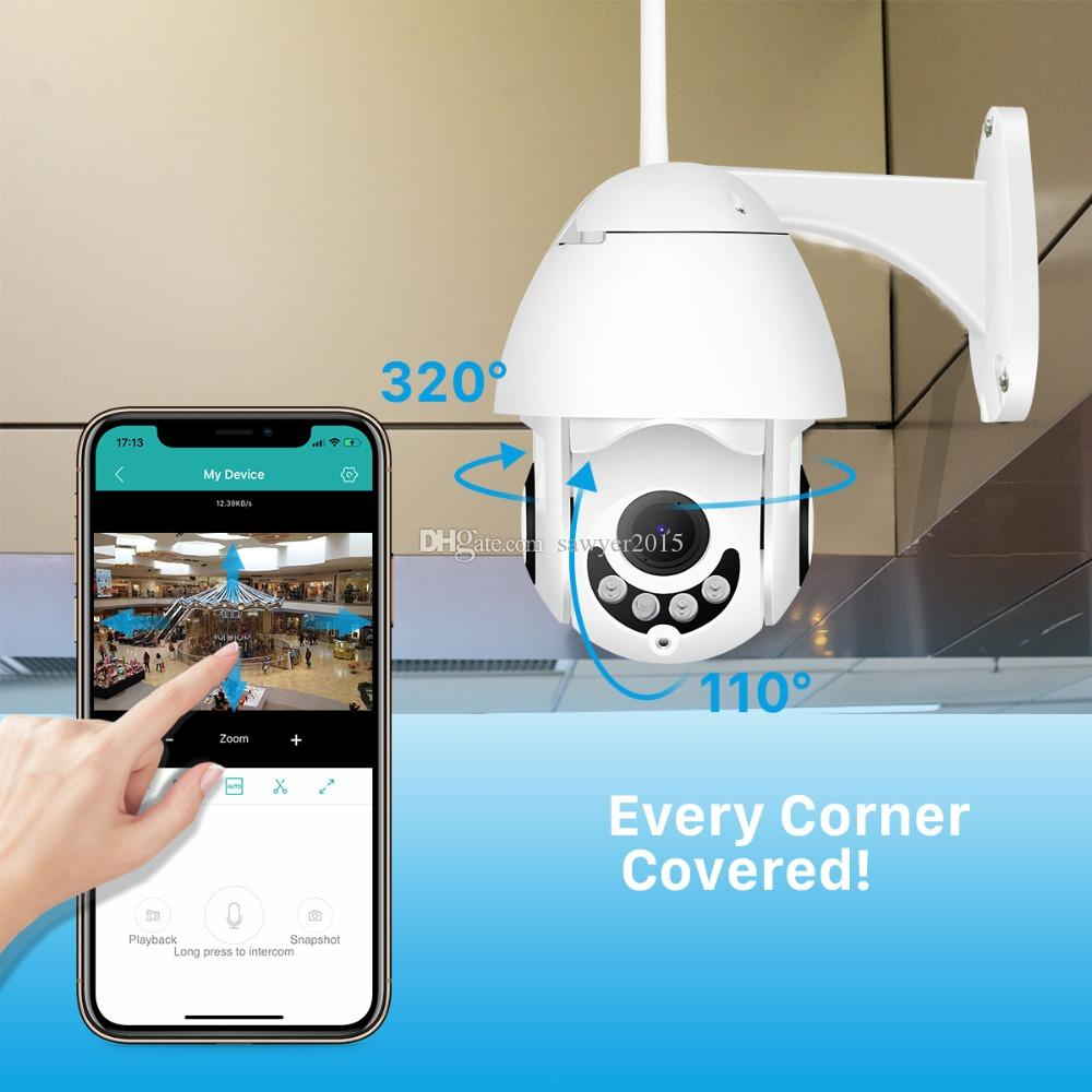 1080P WiFi IP Camera Wireless Wired PTZ Outdoor Speed Dome Camera home security CCTV camcorder App ICSee Two Way Audio camera