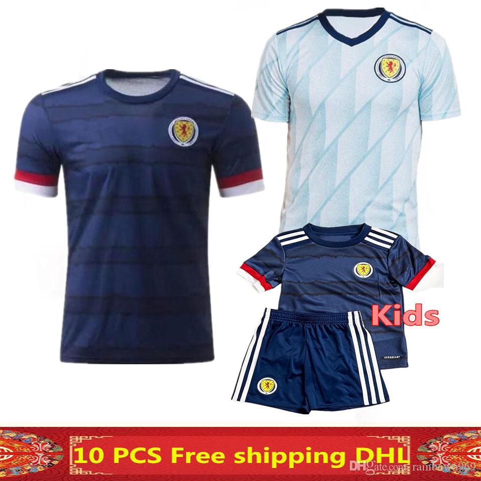 Free shipping newest Thai quality 2020 2021 Scotland Soccer Jerseys 2020 Scotland home man + kids football shirt