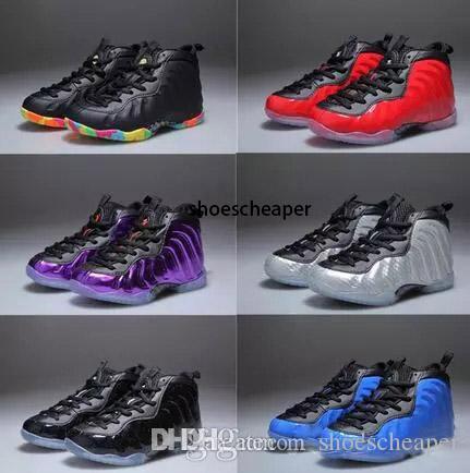 sneaker Boyutu Bebek Ucuz Penny Hardaway Çocuk basketbol ayakkabıları Bebek Çocuk atletik Pippen Duncan sporları: 28 --- 35