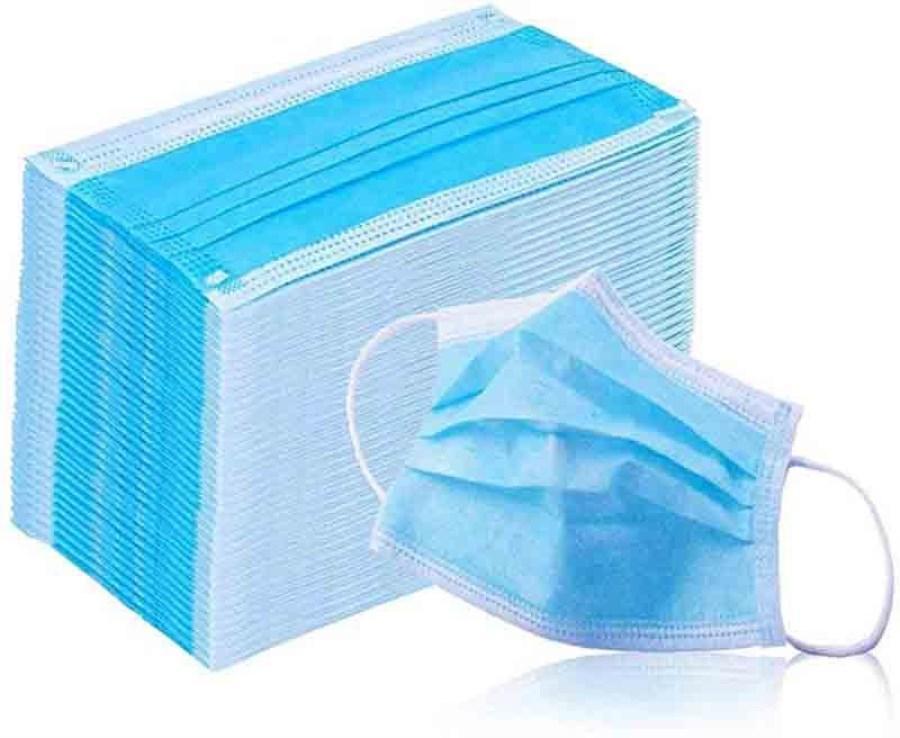 Einweg-Gesichtsmaske 3 Schicht-Ear-Loop-Staub-Mund-Masken-Abdeckung 3-Ply Non-woven Einweg-Staubmaske weiche atmungsaktive Outdoor-Teils